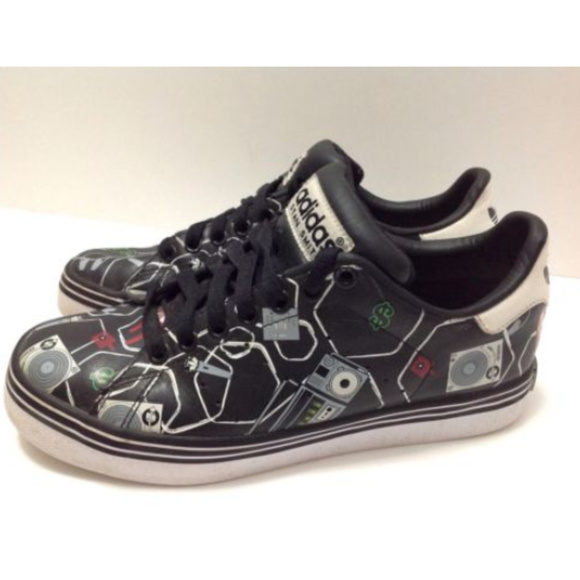 new product 76106 ab100 Adidas Stan Smith Vulc Black ART Skate Shoes Rare